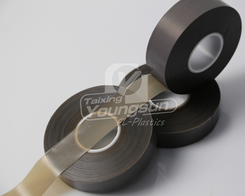 Teflon skived film with silicone adhesive high elongation